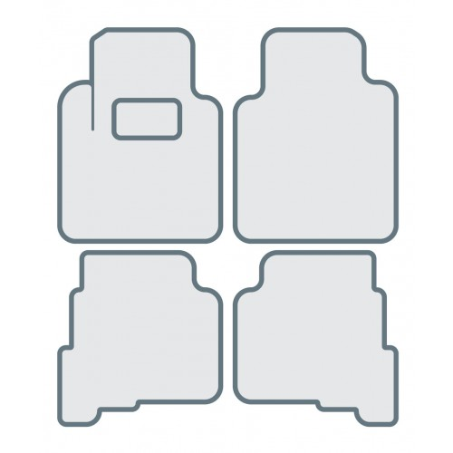 Коврики в салон для TOYOTA Corolla (...-2004), правый руль - Тип D